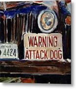 Junkyard Dog Metal Print