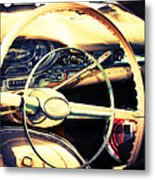 Junkyard Steering Wheel Metal Print