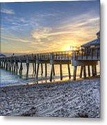 Juno Beach Pier At Dawn Metal Print