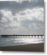 Juno Beach Pier Metal Print