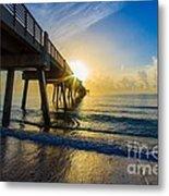 Juno Beach Sunrise Metal Print