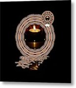 Just A Candle In The Wind Metal Print