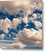 Just A Face In The Clouds Metal Print
