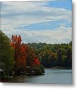 Just A Touch Of Fall Metal Print by Judy  Waller