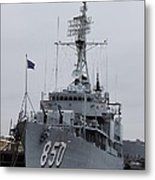 Just Another Battleship Photo Of The Uss Joseph P Kennedy Jr  Metal Print