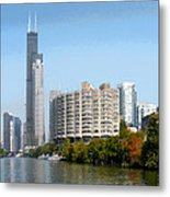 Just Around The River Bend Metal Print