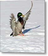 Just Like Skiing Metal Print