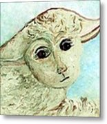 Just One Little Lamb Metal Print