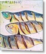 Just Sardines Metal Print
