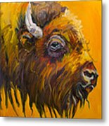 Just Sayin Bison Metal Print