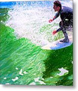 Just Surf - Santa Cruz California Surfing Metal Print
