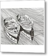 Two Dinghy Friends Just The Two Of Us Metal Print