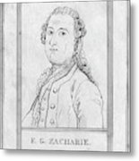 Justus Zachariae (1726-1777) Metal Print