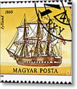 Jylland Steam And Sailing Ship Metal Print