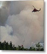 K-max Helicopter On Myrtle Fire Metal Print