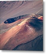 Ka Lu'u O Ka 'o'o  And Sliding Sands Trail Keonehe'e Haleakala Maui Hawaii Metal Print