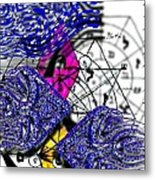 Kabbalah And Fish Metal Print