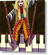 Kabuki Chopsticks 2 Metal Print