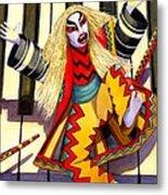 Kabuki Chopsticks 3 Metal Print