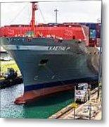 Kaethe P Container Ship Panama Canal Metal Print