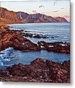 Ka'ena Point Oahu Sunset Metal Print