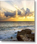 Kaena Point State Park Sunset 2 - Oahu Hawaii Metal Print