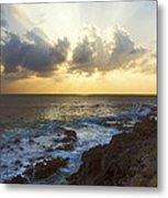 Kaena Point State Park Sunset 3 - Oahu Hawaii Metal Print