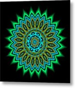 Kaleidoscope 1 Blues And Greens Metal Print