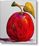 Kaleidoscope Apple -- Or -- Apple For The Teacher  Metal Print by Eloise Schneider
