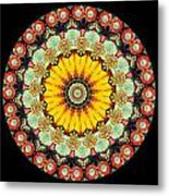 Kaleidoscope Ernst Haeckl Inspired Sea Life Series Triptych Metal Print by Amy Cicconi