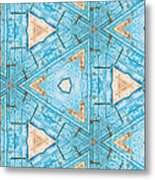 Kaleidoscope In Turquoise Metal Print