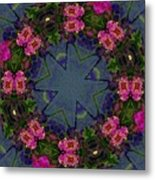 Kaleidoscope Lantana Wreath Metal Print