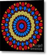 Kaleidoscope Of Colorful Embroidery Metal Print