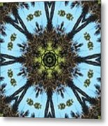 Kaleidoscope Palms Metal Print