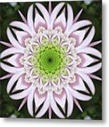 Kaleidoscope Pink Daisy Metal Print
