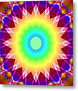 Kaleidoscope Rainbow Metal Print
