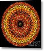 Kaleidoscope Stained Glass Window Series Metal Print