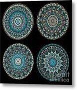 Kaleidoscope Steampunk Series Montage Metal Print
