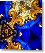 Kaleidoscopic Blues Fdl  Metal Print