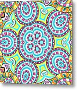 Kaleidoscopic Whimsy Metal Print