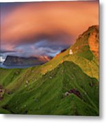 Kalsoy Island And Kallur Lighthouse Metal Print