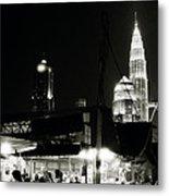 Kampung Baru Petronas Towers Metal Print