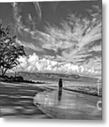 Kanahna Beach Maui Hawaii Panoramic Metal Print