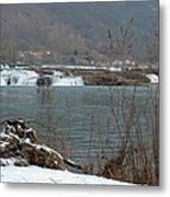 Kanawha Falls - Winter Metal Print