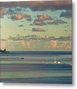 Kaneohe Bay Panorama Mural 3 Of 5 Metal Print