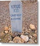 Kansa Kid Killed In A Stampede Metal Print
