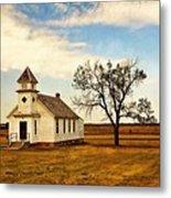 Kansas Church Metal Print by Marty Koch