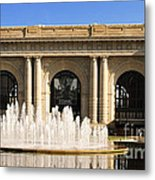 Kansas City Fountain At Union Station Metal Print by Andee Design