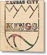 Kansas City Kings Retro Poster Metal Print