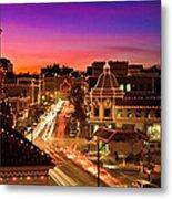 Kansas City Plaza Christmas Lights Skyline Metal Print